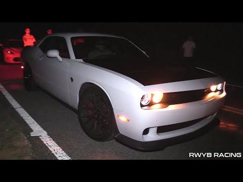800+ HP Challenger Hellcat vs Sloyote Mustang 5.0, Dodge Viper and WRX STI STREET RACING