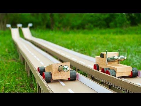 DIY HOT Wheels Race Truck Powered by 2x CO2 Cartridges