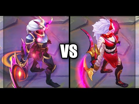 Dragonslayer Diana vs Blood Moon Diana Epic Skins Comparison (League of Legends)