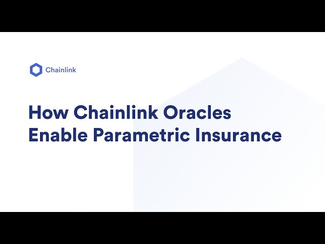 How Chainlink Oracles Enable Parametric Insurance | Christoph Mussenbrock, Etherisc