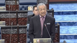 Tun M answers first question in Parliament