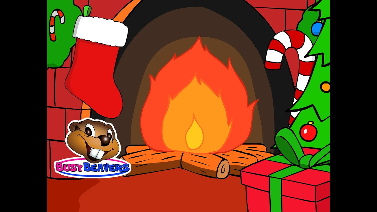 christmas yule log fireplace 3 hours holiday cartoon fire with