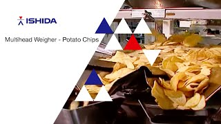 Ishida Multihead Weigher. Application: Potato Chips and Extruded Snacks