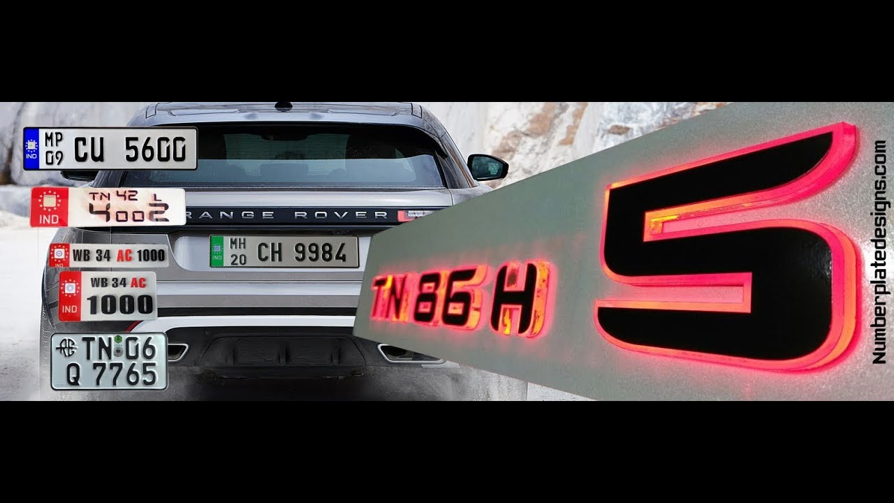Car Number Plate Design Online India | Latest Car Number Plates ...