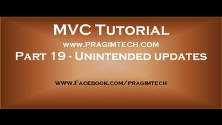 Part 19  Unintended updates in mvc