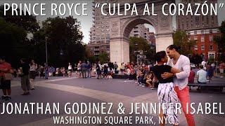 "Jonathan Godinez & Jennifer Isabel ""Culpa al Corazón"" in Washington Square Park #JSquared"