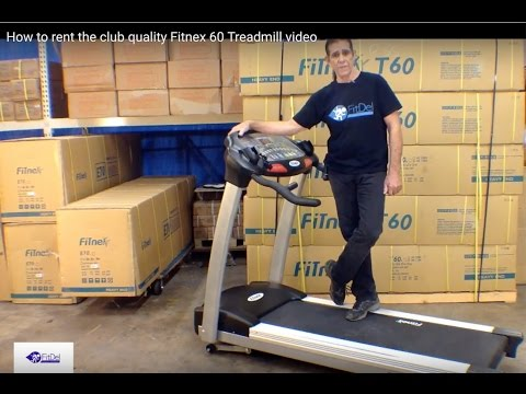 How To Rent The Club Quality Fitnex 60 Treadmill Video