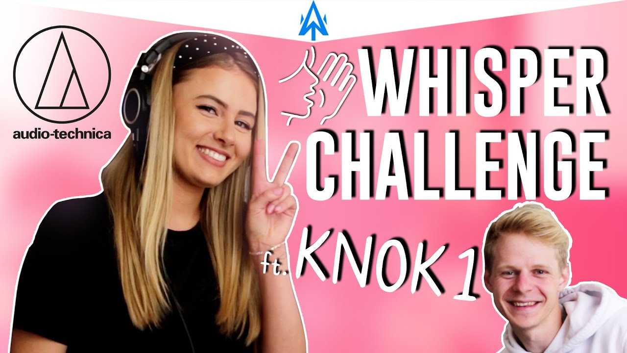 Whisper Challenge With ItsSky & KNOK1 | Trying Out The New ATH-M50x Headphones!