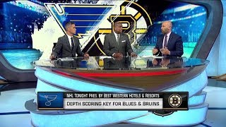 NHL Tonight: Blues, Bruins depth: Scoring depth key to Blues, Bruins reaching Cup Final  May 24,  20