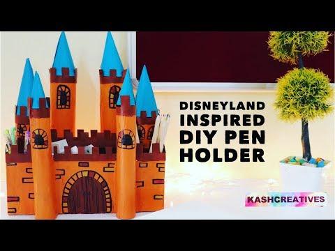 Disneyland Inspired DIY Pen Holder | Pencil Holder | Cardboard Storage