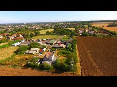 Aerial video of Spruce Hill, Harlow, Essex