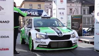 World rally debut of the new ŠKODA Fabia R5: day 1