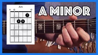 How to play A Minor On Guitar (Am) Justin Guitar Beginner Lesson 2 Tutorial [B1-303]
