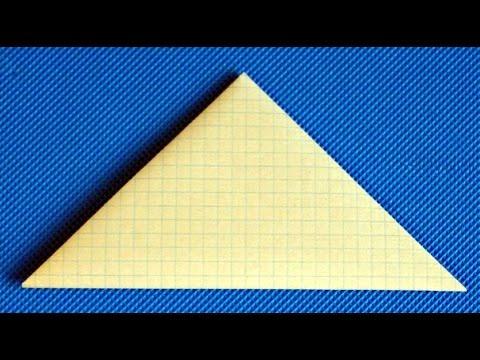 Солдатский треугольник. Как сделать конверт из бумаги своими руками. Оригами. Поделки на 9 мая.