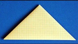 Как сделать конверт - треугольник из бумаги на 9 мая. Письмо своими руками.