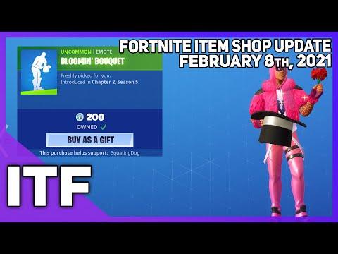 Fortnite Item Shop *NEW* CUDDLE KING SKIN + EMOTE! [February 8th, 2021] (Fortnite Battle Royale)