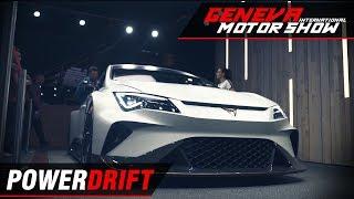Seat Cupra E Racer - Future of electric racing ft Aditya Patel : Geneva Motor Show 2018 : PowerDrift