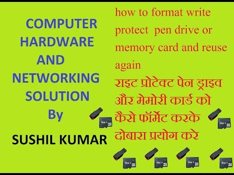 how to format write protected sandisk pen drive