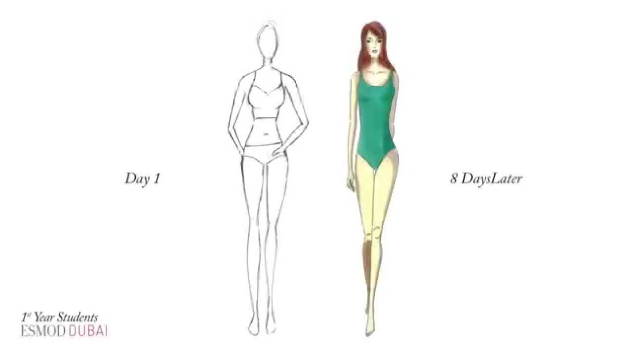 The One Only Fashion Design Drawing Method By Esmod Dubai 3 Youtube