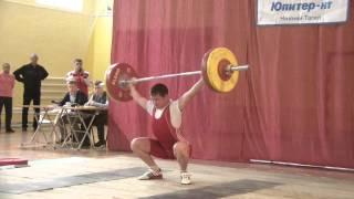 Торопов Владислав, 16 лет, вк 69 Рывок 110 кг Турнир Василенко