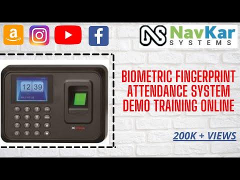 Biometric Fingerprint Attendance System Demo Training Online in Delhi Mumbai Bangalore Chennai India