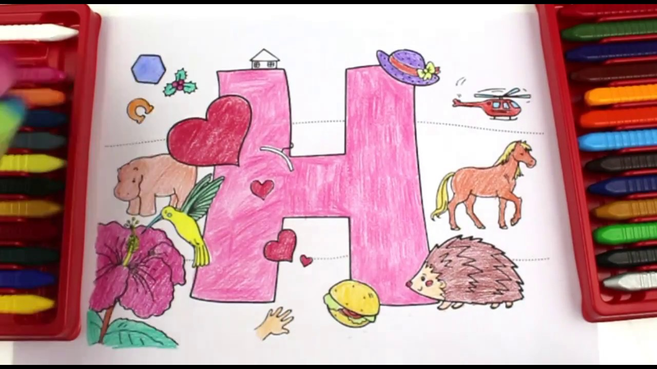 Coloring and Learning Letter H|Super Simple ABCs|Alphabet for Kids ...