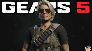 GEARS 5 News - Sarah Connor DLC Character Revealed! Terminator Dark Fate Characters Pack!