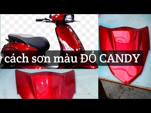 Hướng Dẫn Sơn Dàn áo Xe Màu Đỏ Candy