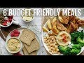 6 BUDGET FRIENDLY MEALS FOR $25 [VEGAN/NUT FREE/SOY FREE] | PLANTIFULLY BASED