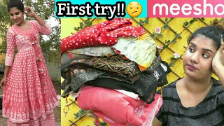 *MEESHO* Festival Haul    First Time Trying Out Anarkali/Kurti set in meesho/online shopping tamil screenshot 5