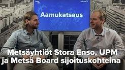 Metsäyhtiöt Stora Enso, UPM ja Metsä Board sijoituskohteina