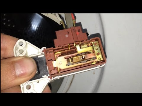 Anular-Puentear blocapuertas lavadora. [Cancel-bypass door lock of Washing machines]