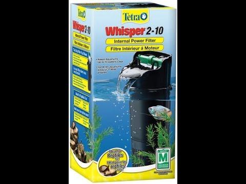 tetra whisper 2 10 gallon internal power filter youtube