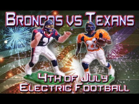 Houston Texans vs Denver Broncos Fireworks Spectacular Electric Football!