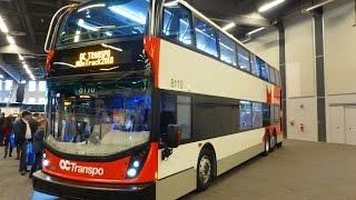 "OC Transpo: New 2015 Alexander Dennis Enviro500 ""Go-Anywhere"" Double Decker Bus - at CUTA Trans-Expo"