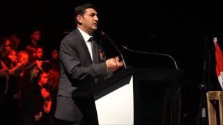 Mustafa Işık'ın Konuşması ve plaket takdimi