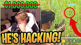 Tfue LOST $1,000,000 Winter Royale Tournament Qualifier to a HACKER! - Fortnite Funny Moments