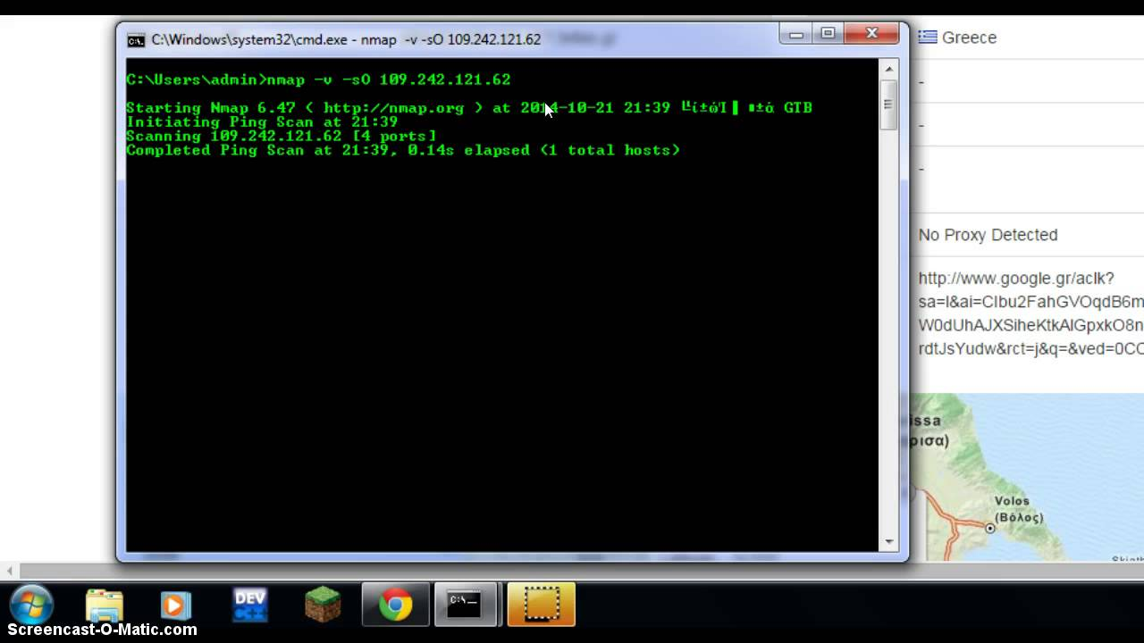 Windows command prompt nmap - Finding Open Server Ports With Nmap And Cmd