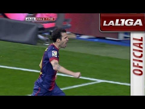 Gol de Cesc Fábregas (0-1) en Real Madrid - FC Barcelona - HD