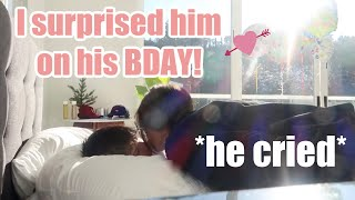 SURPRISING MY BOYFRIEND FOR HIS BIRTHDAY *emotional*