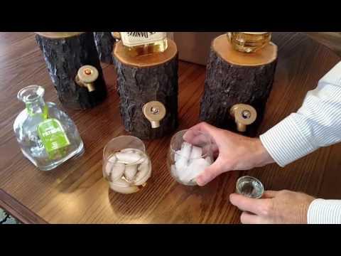 Log Liquor Dispenser - New And Improved