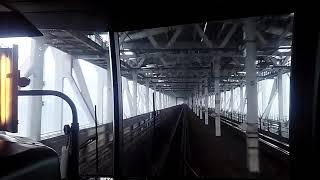 【前面展望】JR四国 瀬戸大橋線 高松行き快速マリンライナー15号パノラマグリーン車 児島→高松