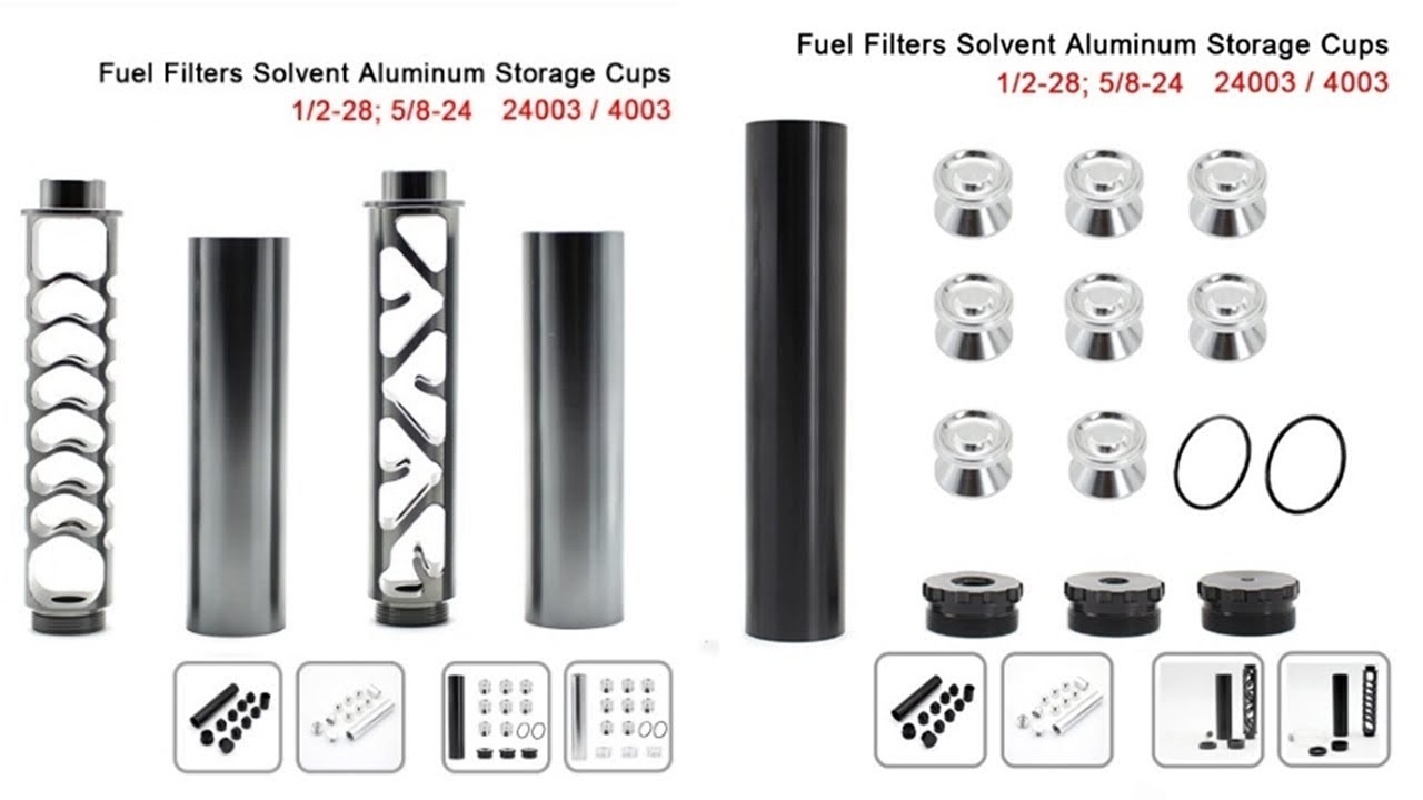 R-EP Aluminum Solvent Trap 1/2-28 5/8-24 Fuel Filter for