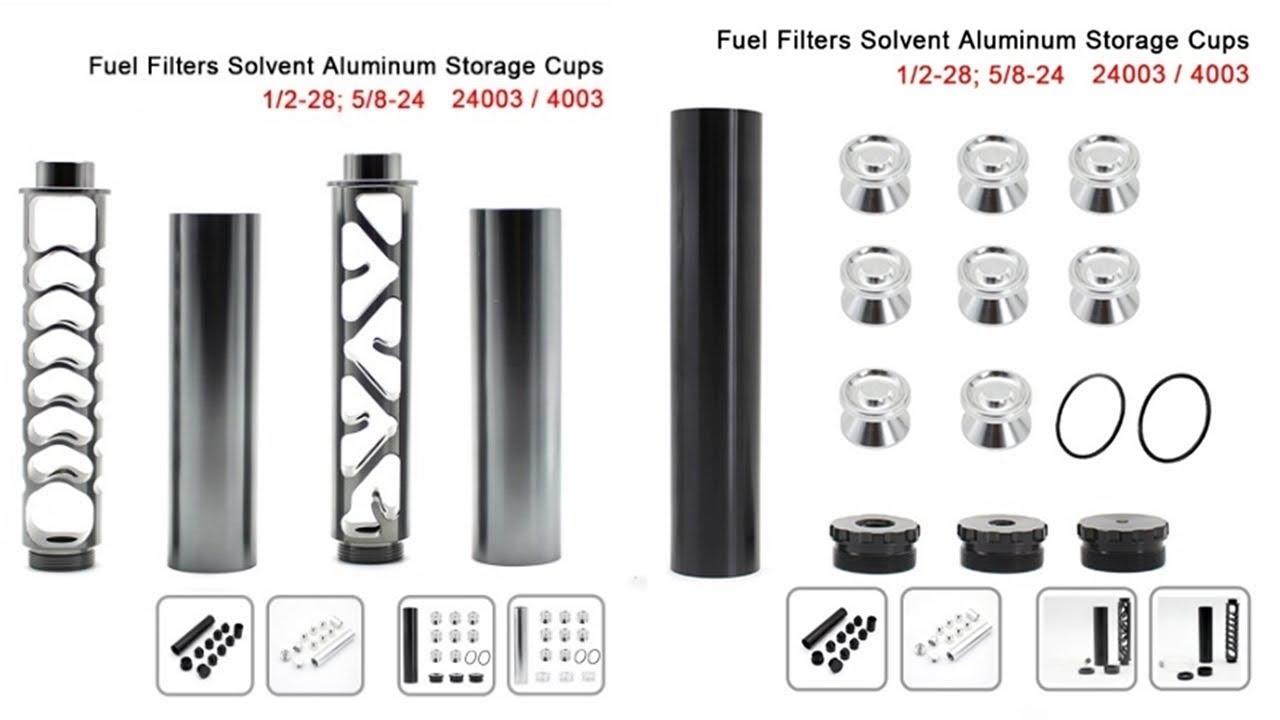 R-EP Aluminum Solvent Trap 1/2-28 5/8-24 Fuel Filter for
