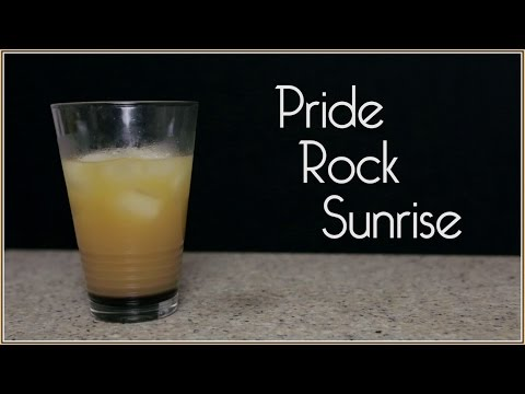 PRIDE ROCK SUNRISE for The Lion King (Drunk Disney Libation Studios #23)