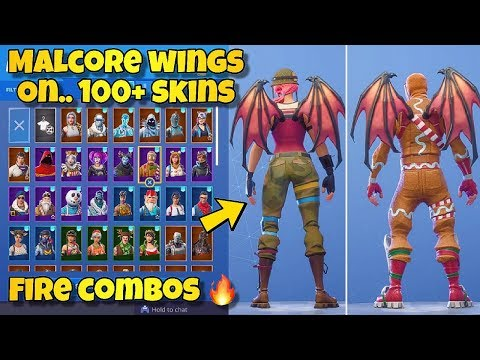 NEW 'MALCORE WINGS' BACK BLING Showcased With 100+ SKINS! Fortnite Battle Royale -  NEW MALCORE SKIN