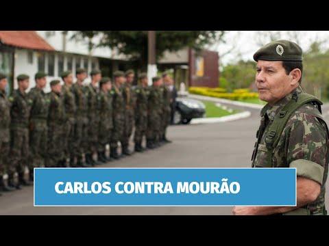 Como os militares estão reagindo aos ataques de Carlos Bolsonaro a Mourão?