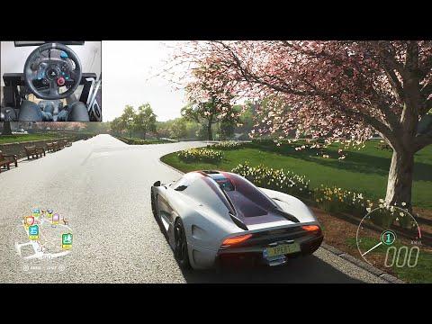 Koenigsegg Regera – Forza Horizon 4 | Logitech g29 gameplay