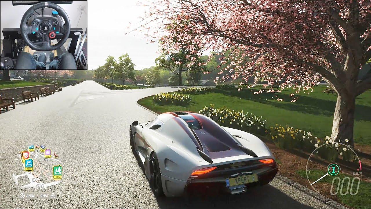 Koenigsegg Regera - Forza Horizon 4 | Logitech g29 gameplay thumbnail