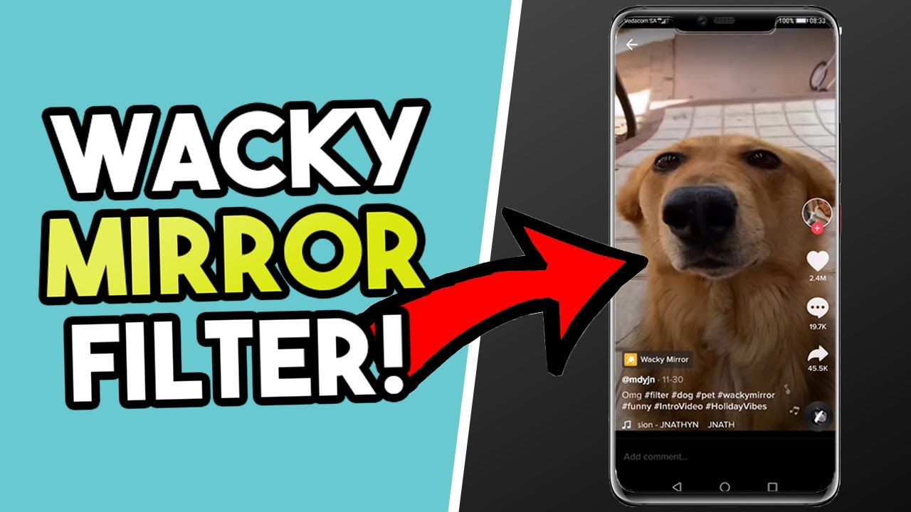 How To Get The Wacky Mirror Tiktok Filter Youtube